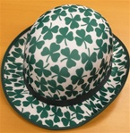 Shamrock Printed Adult Derby Hat