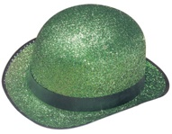 Green Glitter Adult Derby Hat