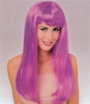 Long Purple Glamour Costume Adult Wig