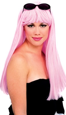 Long Glamour Wig - Light Pink