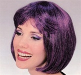 Short Dark Purple Supermodel Adult Wig