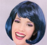 Short Dark Blue Supermodel Adult Wig