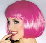 Short Hot Pink Supermodel Adult Wig