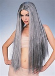 Adult Long Grey Witch Wig
