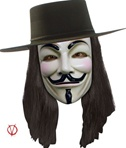 V for Vendetta Wig - Adult