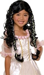 Kids Fairy Tale Princess Wig Black