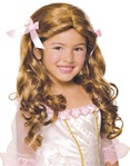 Girls Gracious Princess Wig Brown
