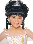 Kids Charming Princess Wig Black