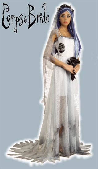 Deluxe corpse bride costume for Corpse bride wedding dress for sale