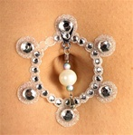 Silver Crystal Belly Jewels Accessory