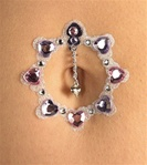 Accessory - Pink and Purple Heart Belly Jewels