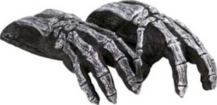 Skeleton Biker Gloves - Adult