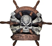 Dead Men Tell No Tales Pirate Plaque Decoration