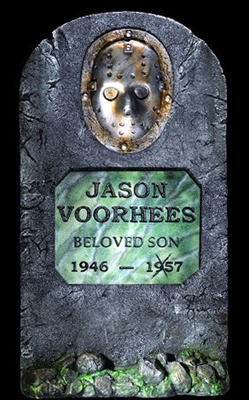 Jason Voorhees Tombstone Accessory