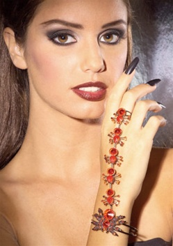 Accessory - Red Spider Bracelet with Ring
