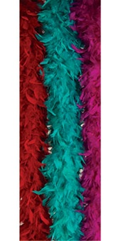 Teal Deluxe Turkey Boa Costume Accessory