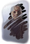 Jason Voorhees Demented Mirror Cling - Friday the 13th