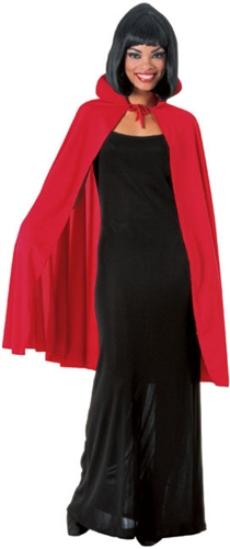 "45"" Red Fabric Adult Cape"