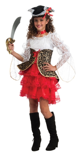 Girl's Lacey Pirate Costume - Seven Seas