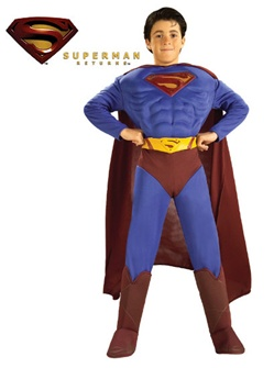 Deluxe Superman Returns Costume - Child