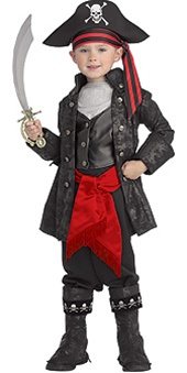Boys Captain Black Costume