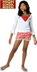 Girls Gabriella Lifeguard Costume - High School Musical