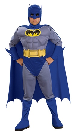 Kids Deluxe Muscle Chest Batman Costume