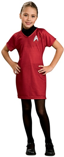 Star Trek Child Deluxe Uhura Red Dress Costume