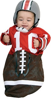 Football Baby Bunting - 0-9 months