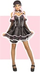 Sexy Gothic Rag Doll Girl Adult Costume