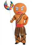 Gingerbread Man Warrior Costume - Shrek - Adult