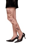 Miami Ink Adult Womens Tattoo Stocking - Rose & Skull