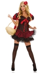 Deluxe Sexy Little Red Riding Hood Costume with Corset