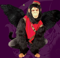 Flying Monkey Feathered Wing Adult Costume Set