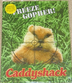 """Freeze Gopher!"" Caddyshack Tin Sign - Decoration"