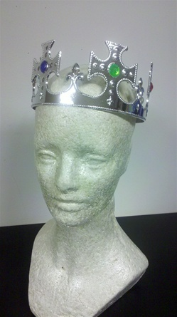 Child Sized Silver Plastic Crown