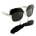 Bushy Eyebrows Costume Sunglasses