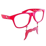 Pink Party Sun-Staches Costume Glasses