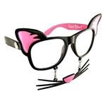 Kitty Cat Sun-Staches Costume Glasses