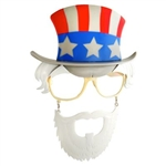 Uncle Sam Sun-Staches Costume Glasses - USA