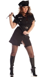Sexy Cop Lady Costume - MEDIUM