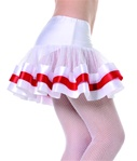 Sexy White and Red Nurse Petticoat