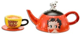 Officially Licensed Betty Boop Teapot Salt and Pepper Shakers