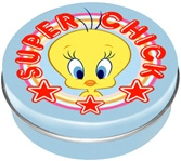 Officially Licensed Tweety Round Tin Box