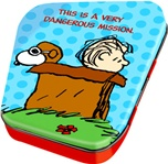 Officially Licensed Red Baron and Linus Round Tin Box