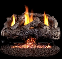 "Charred Frontier 24""/30"" Vent-Free Gas Log Set"