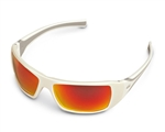 Stihl White Ice Glasses - Orange Mirror Lens