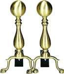 UniFlame A-8125 Solid Antique Brass Medium Ball Andirons