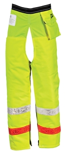 Pro Mark 9 Layer Zip Chaps - Hi-Visibility