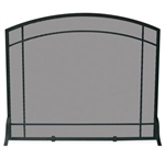 UniFlame S-1029 Single Panel Black Wrought Iron Screen with Mission Design